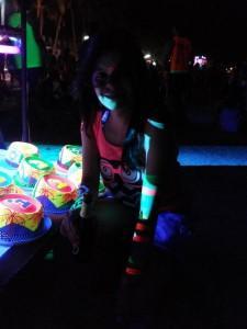 Neon glow in the dark paints
