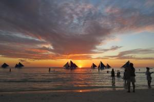 Enjoy sunsets from the White Beach