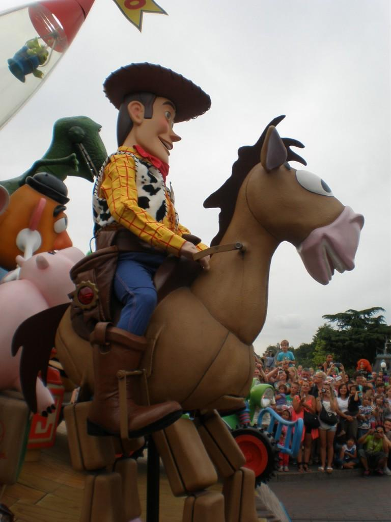 Woody from Toy Story in Disney Parade