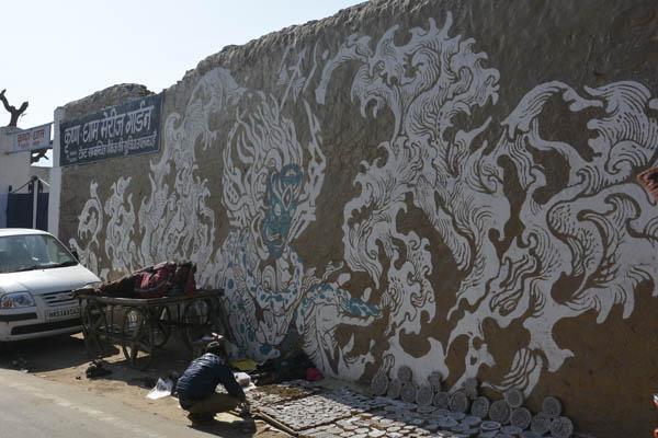 wall paintings pushkar