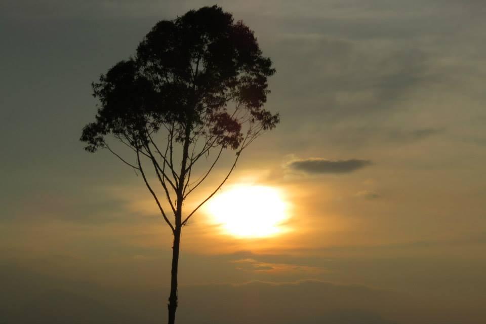beautiful sun rise bandung