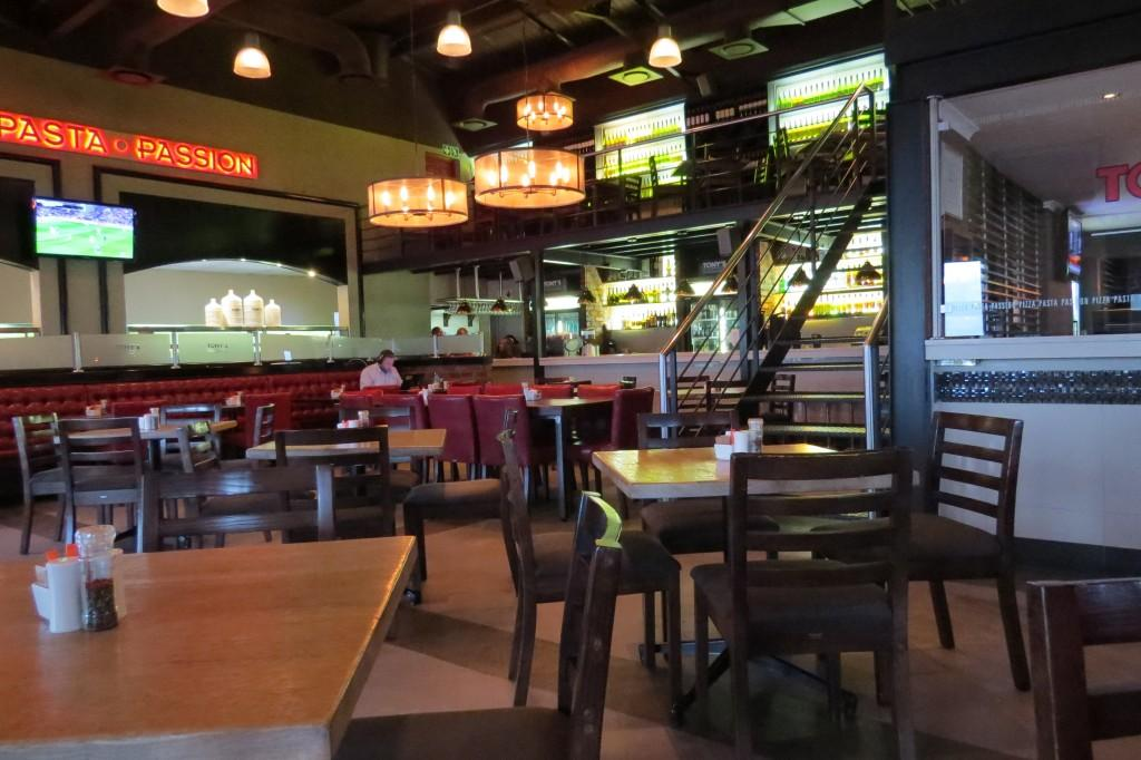Indoor Seating at Tonys Spaghetti Grill