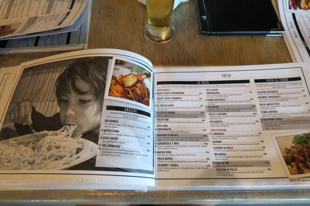 A peek at the enticing menu