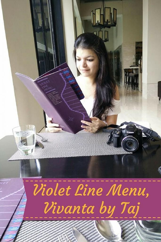 Violet Line Menu by Taj