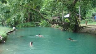 the lovely blue lagoon