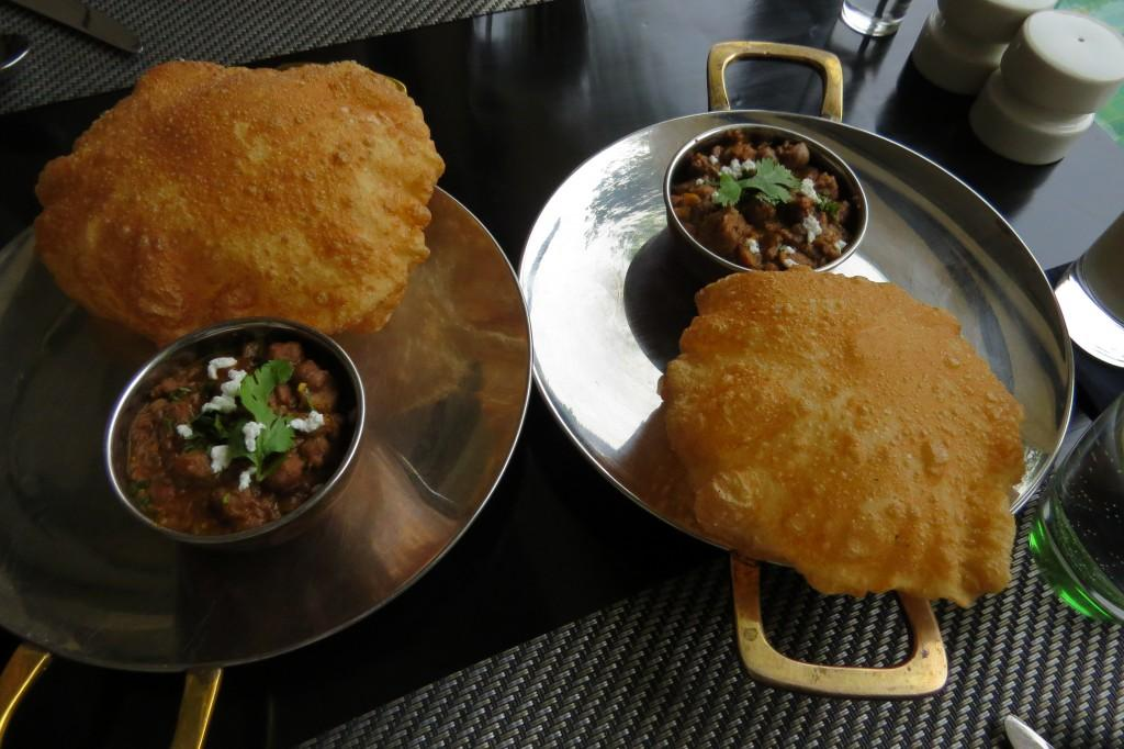 Heavenly chole bhaturey