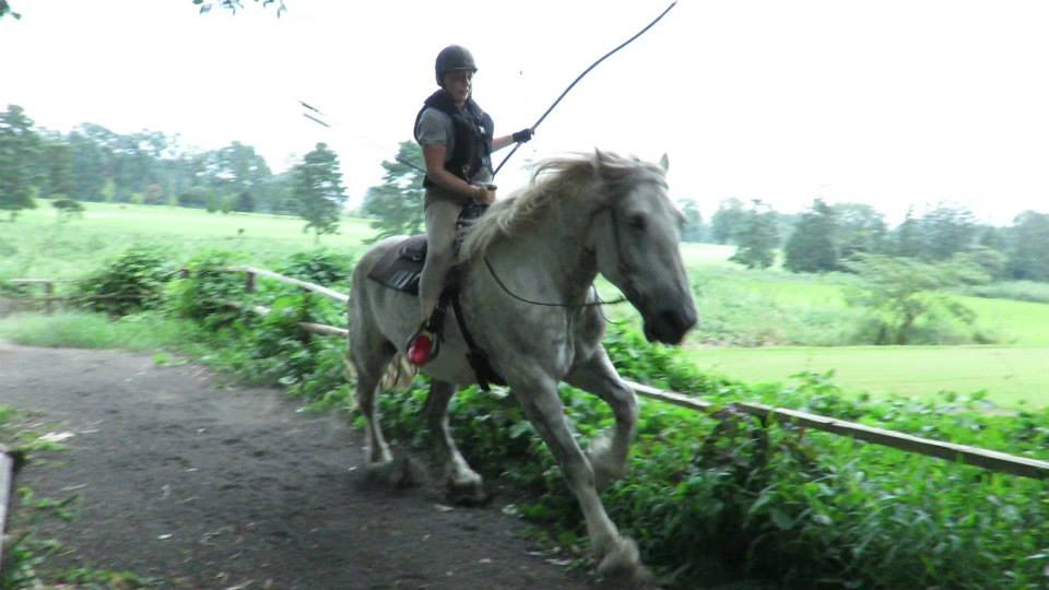 Shooting arrows from horse