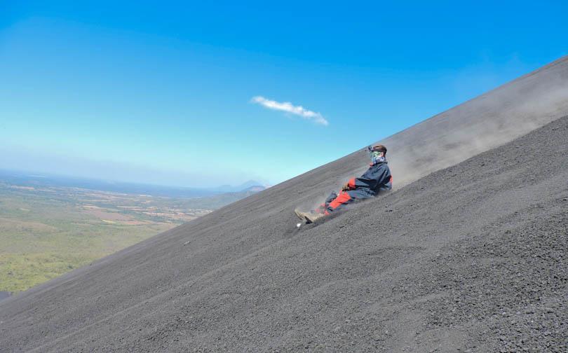 Leon Volcano Boarding Cerro Negro Nicaragua