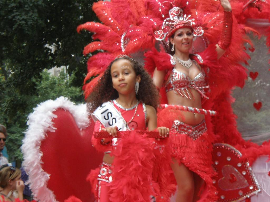 Big happy parade at zomercarnaval
