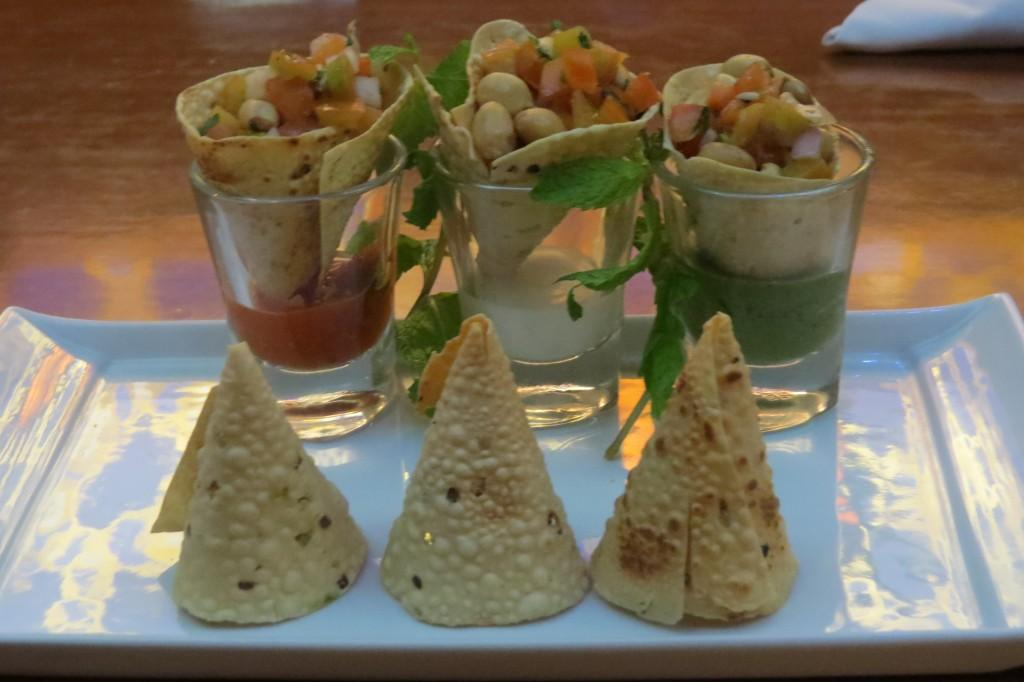 Delightful Masala Papads in unique serving style