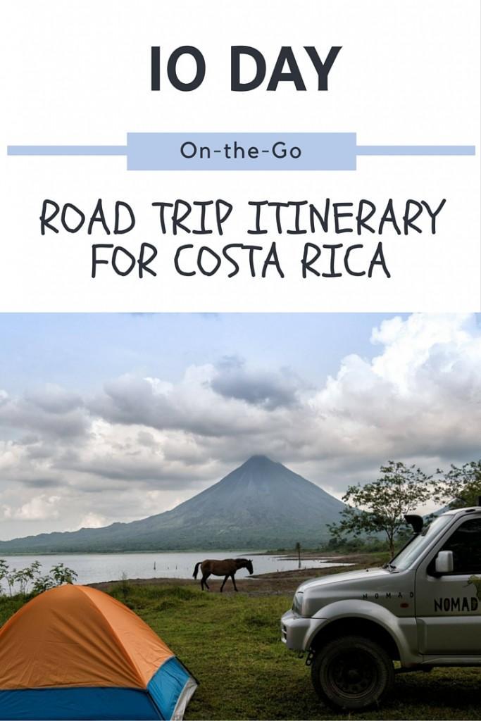 Costa rica road trip itinerary