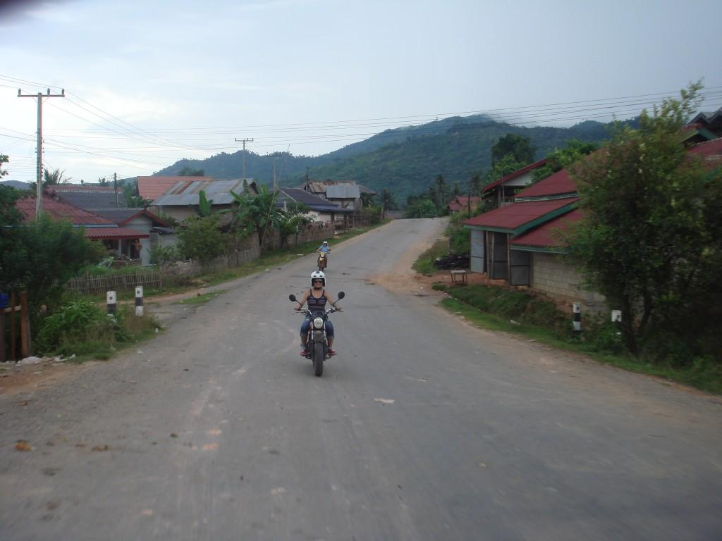 Riding amidst breathtaking natural beauty of Vang Vieng