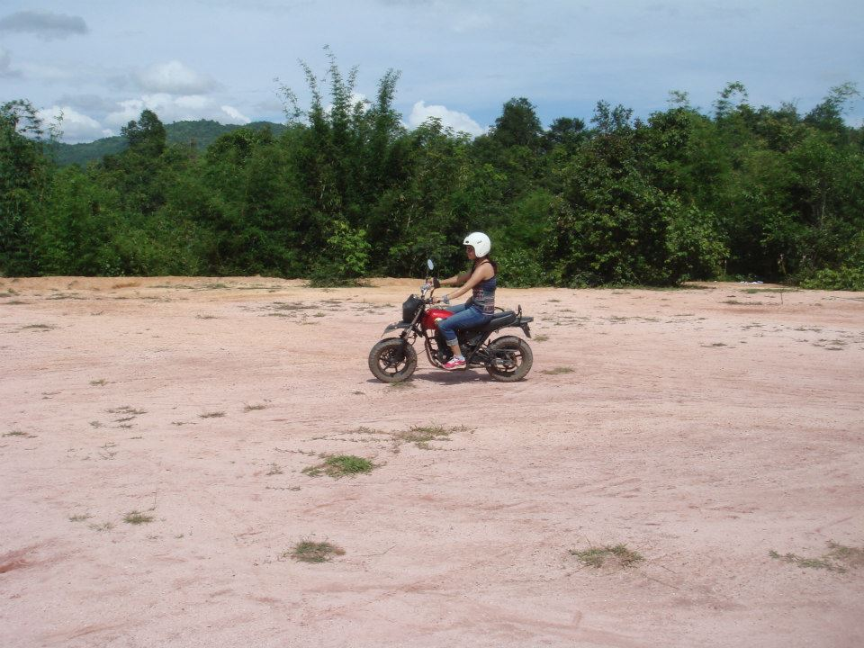 dirt bike in laos