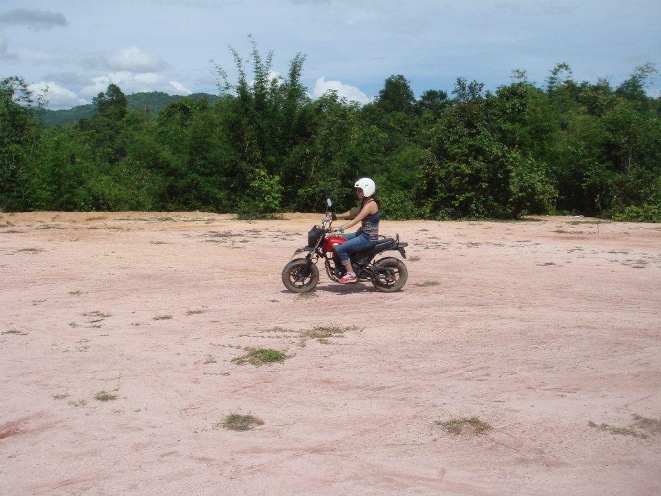 dirt bike in laos