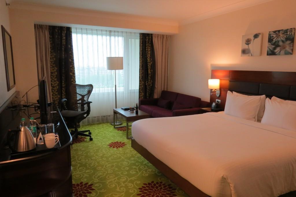 The lovely spacious room at Hilton Garden Inn