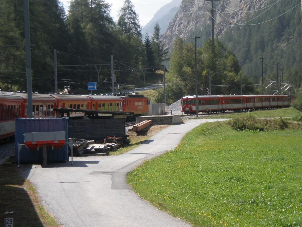 The adorable Glacier Express