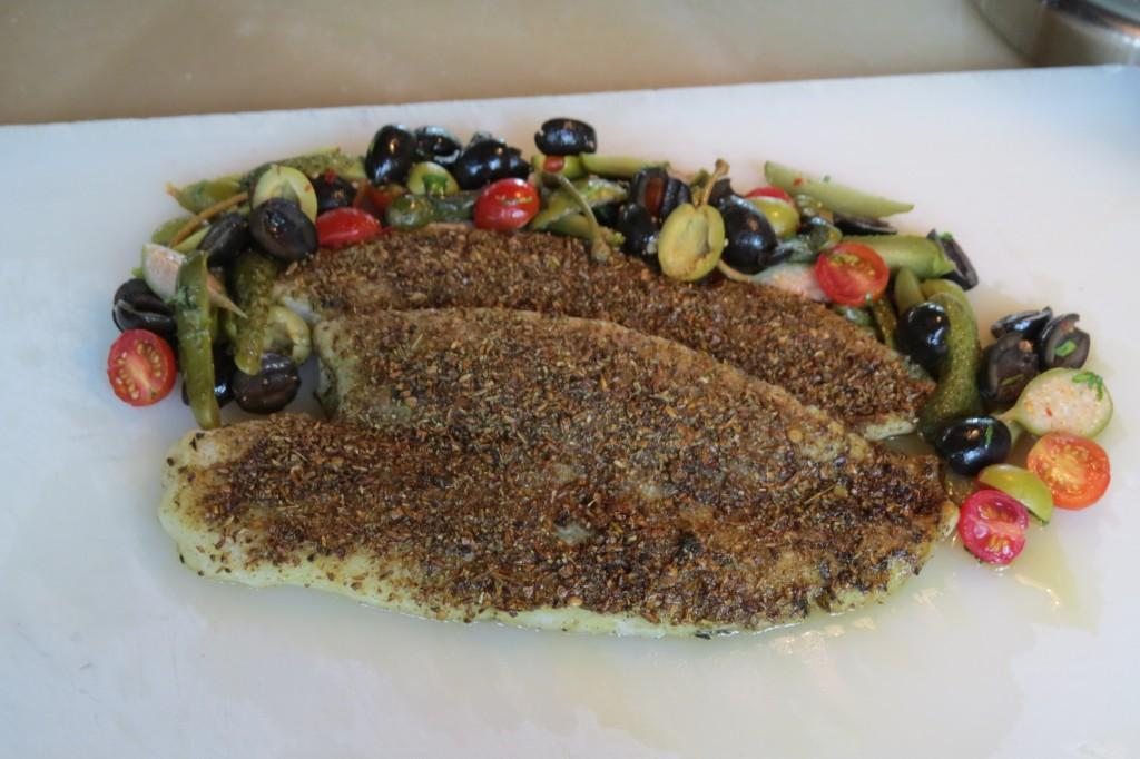 Baked and fried fish