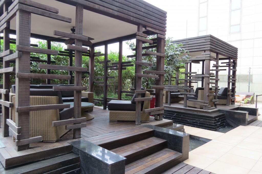 wooden cabanas