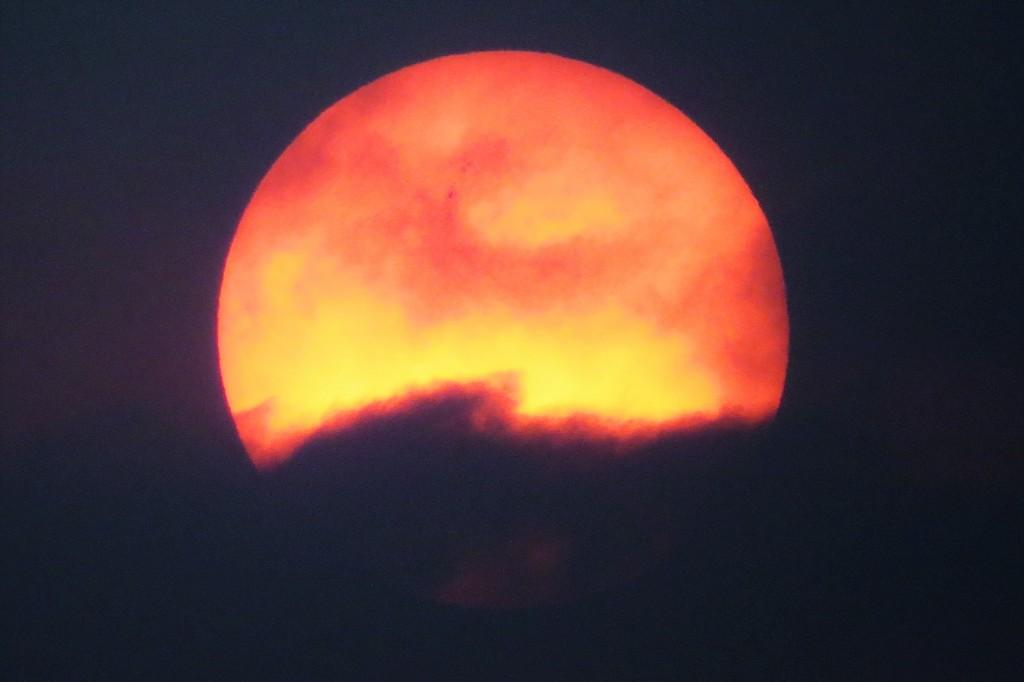 The melting sun set - Clicked from Tebing Keraton