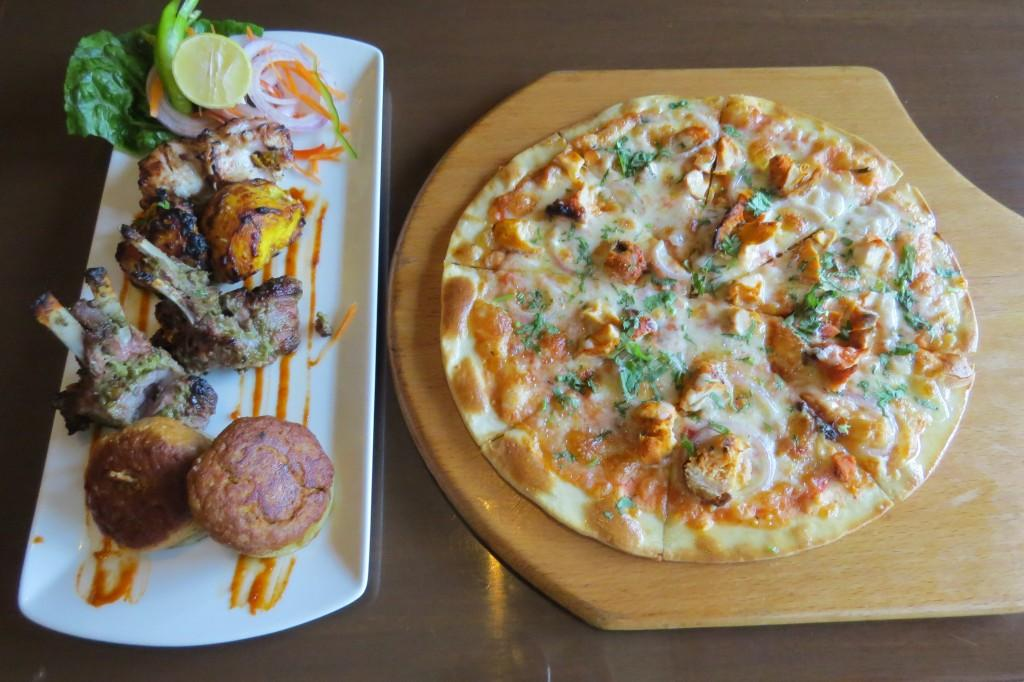 Mixed Non Veg Platter and Chicken Tikka Pizza