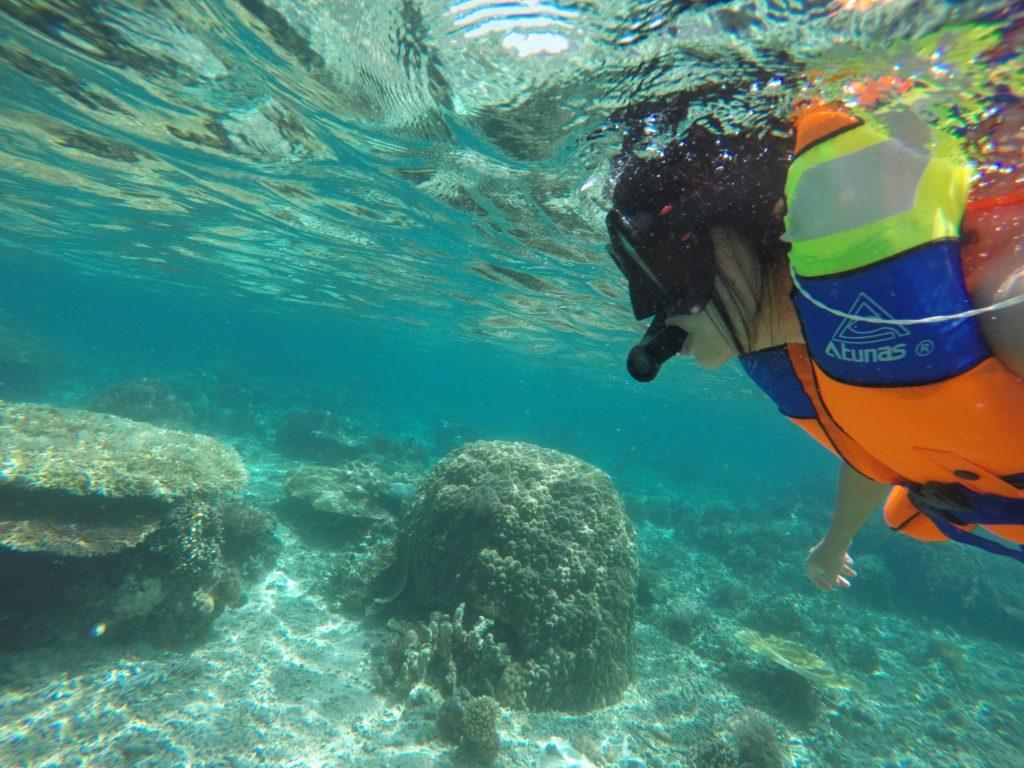 selfies while snorkeling