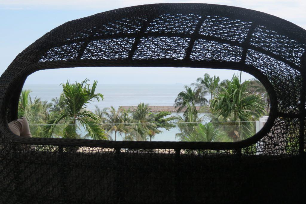View from a lounge chair