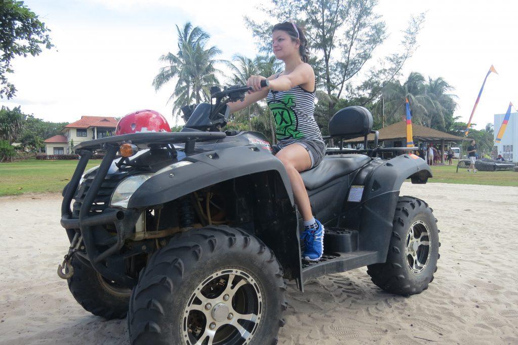 Me on the badass ATV!