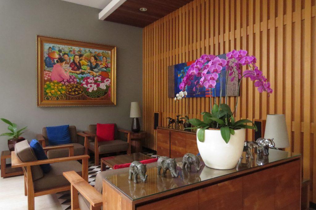 Beautifully decorated lobby area