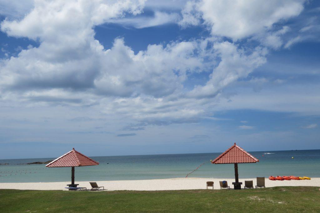 Private beach at Bintan Lagoon Resort