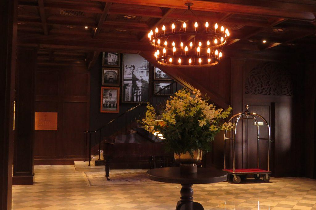 The lovely lobby at Metropole