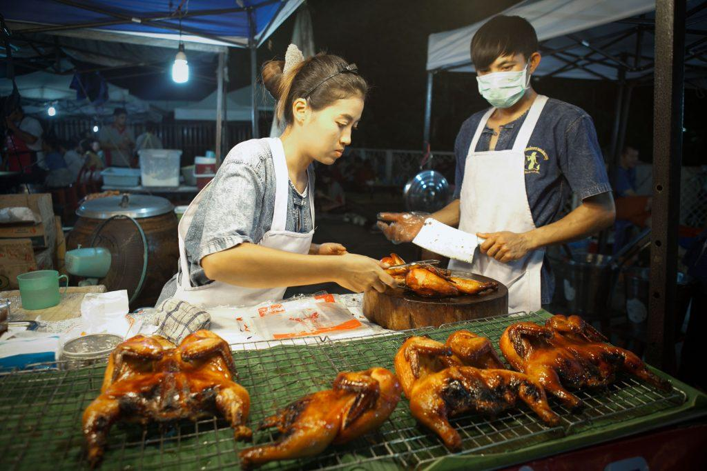 Street food at Chiang Rai walking street