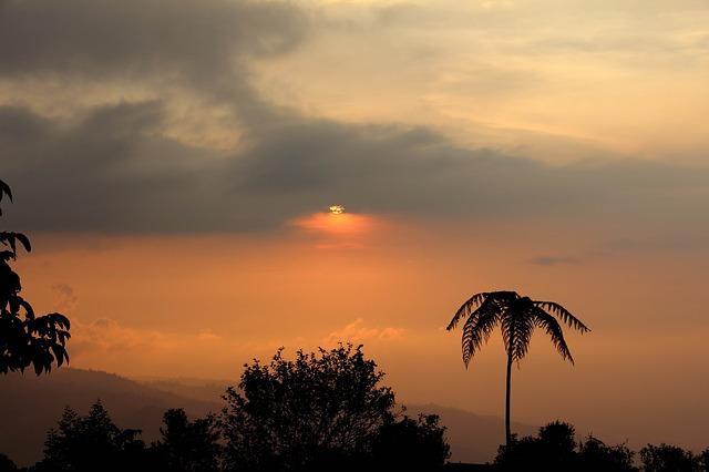 Lovely sunset in Bogotá