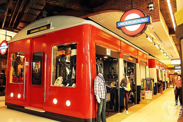 London Underground styled shops. Photo Courtesy - FlipNomad