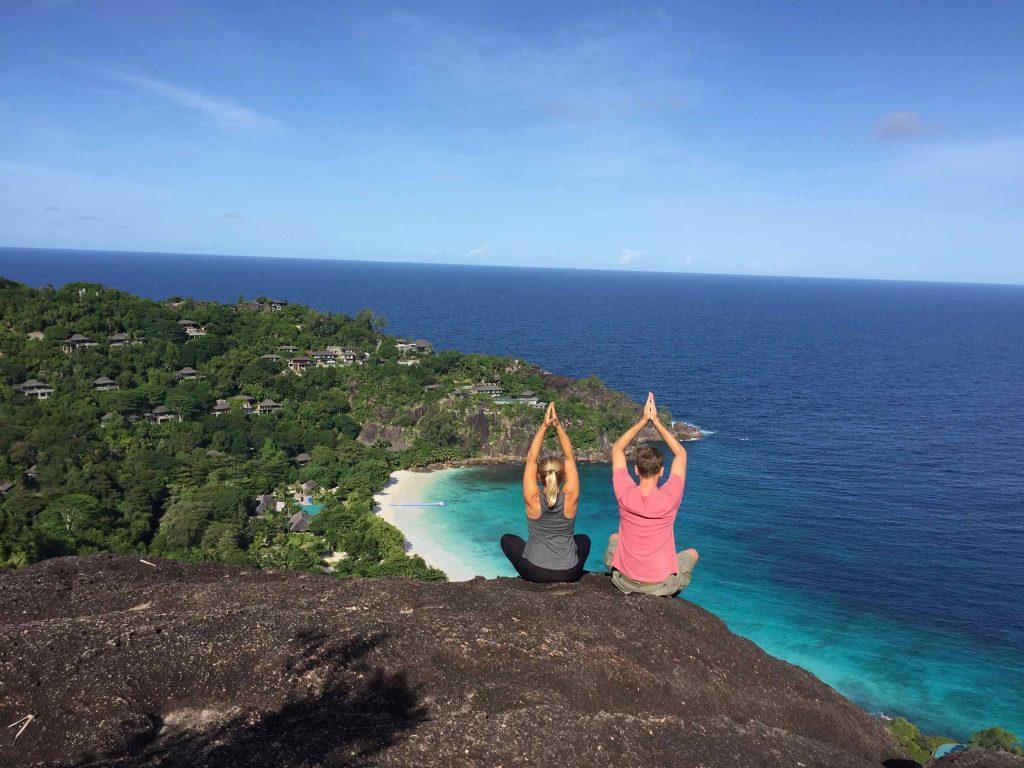 Cameron & Natasha enjoying their stopover at Seychelles