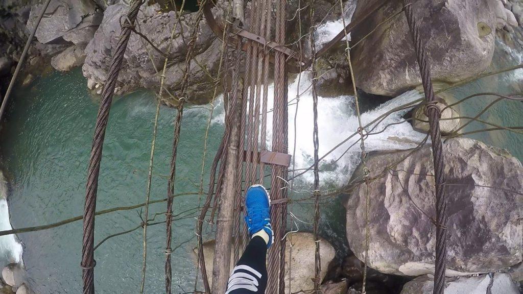 Crossing my fave suspension bridge enroute