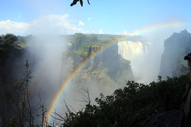 rainbow at victoria falls