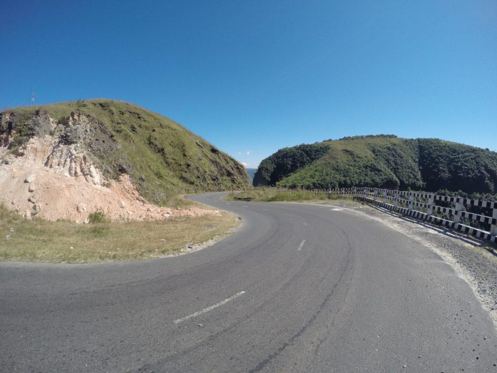 Amazing long winding roads in Meghalaya