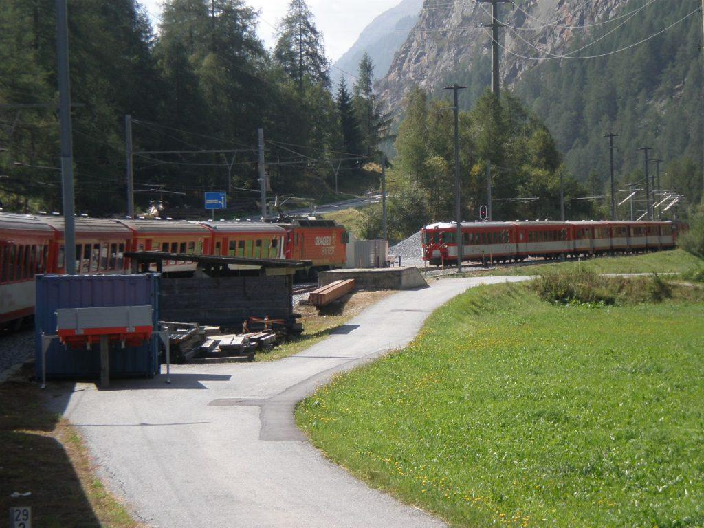 Glacier express offers stunning scenic views of Switzerland