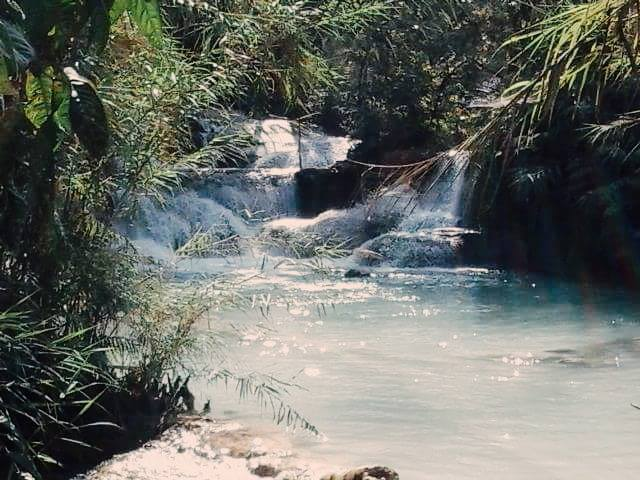 luang prabang waterfalls in laos