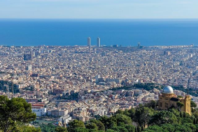 barcelona spain city view