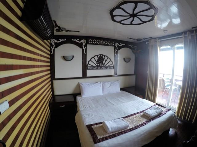 Our cozy room in the monkey bay cruise liner