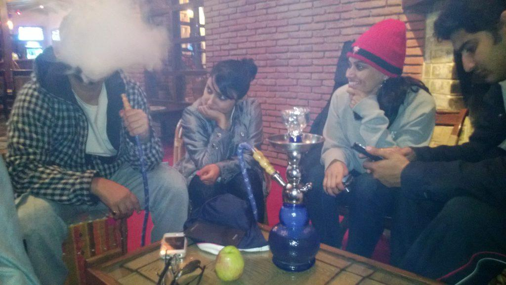 Chilling with our flavored Shisha at the Lazy Dog