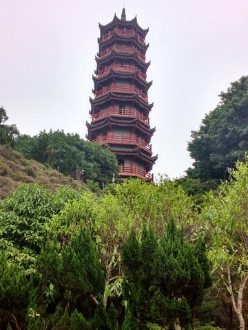 pagoda on a hill