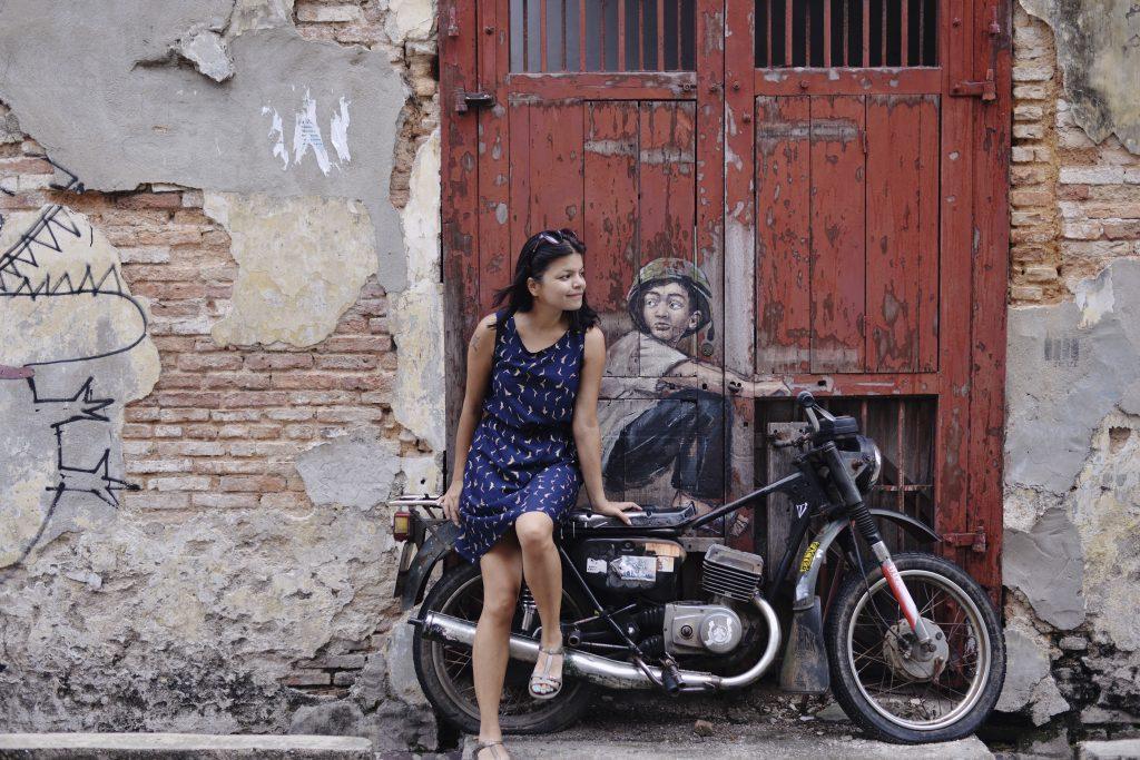 motorbike street art