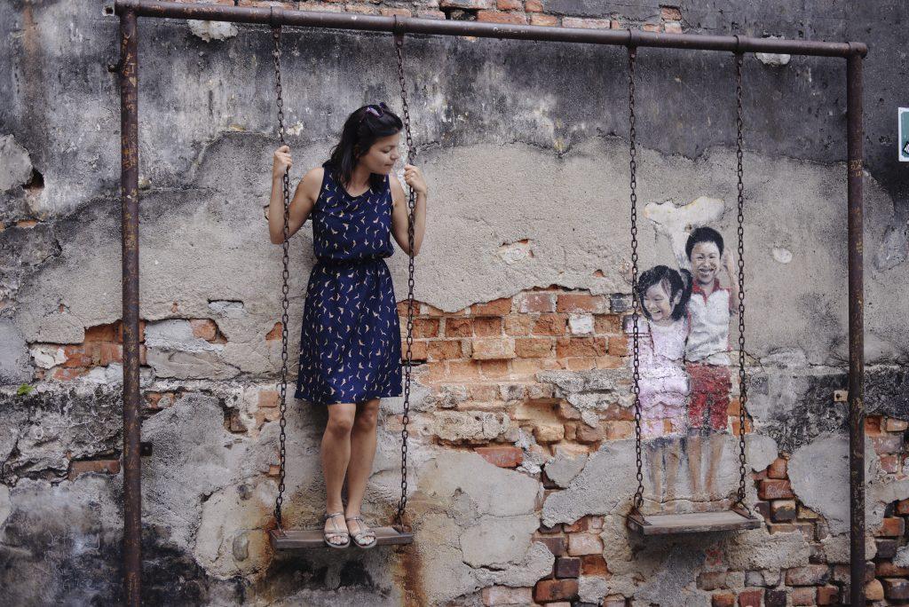 Swing street art