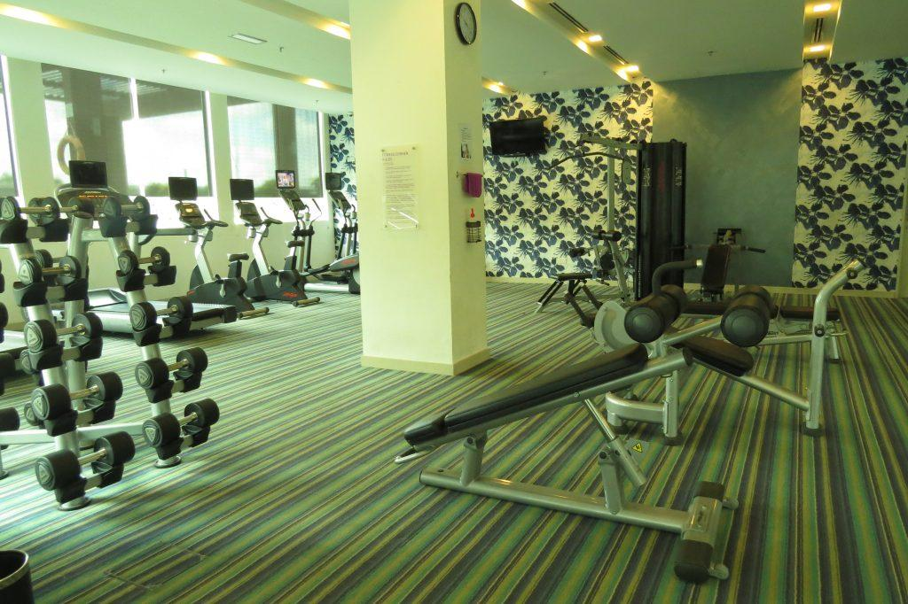 In-House fully equipped gym at Citadines uplands kuching