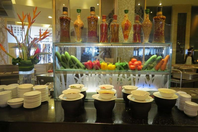 Buffet at coffee terrace