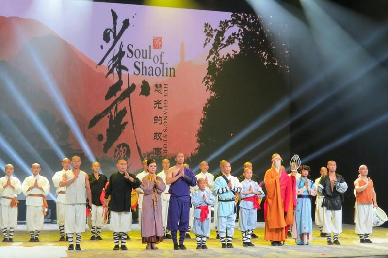 Shaolin Monks who performed this Broadway extravaganza