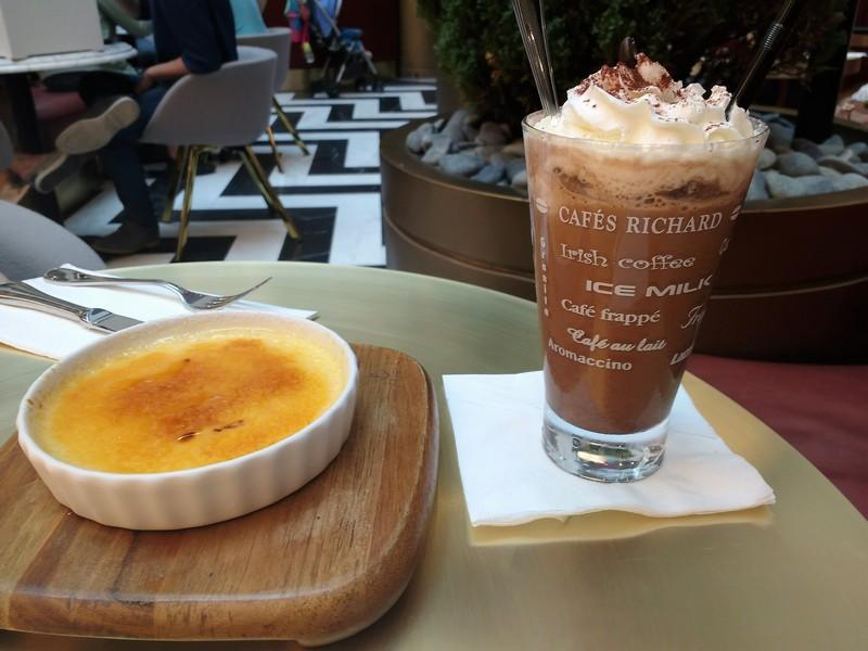 Pudding and cold coffee