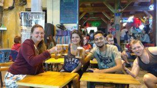 roadside bars in the Old Quarter hanoi
